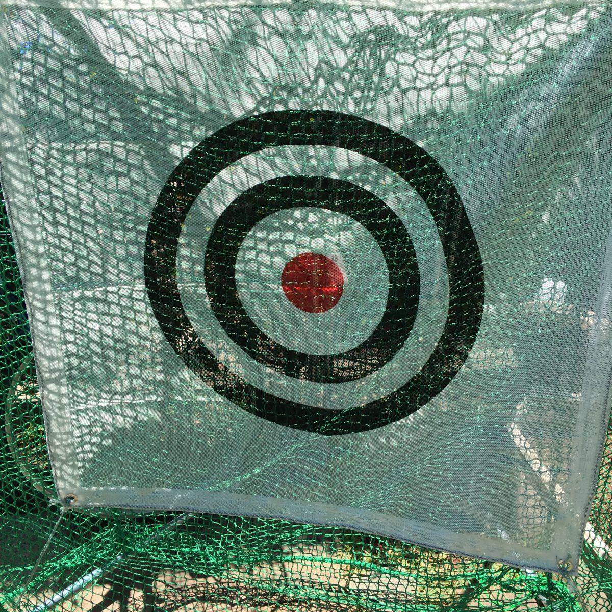 ゴルフ練習用ネットを庭に設置してみた